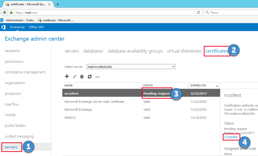 How to Install SSL/TLS Certificate in Microsoft Exchange