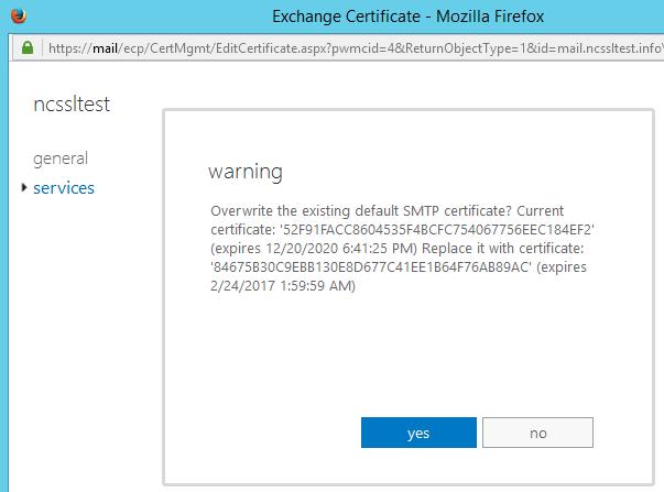 Overwrite Certificate