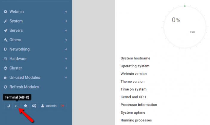 Webmin Terminal
