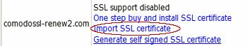 Import SSL