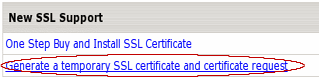 Temporary SSL