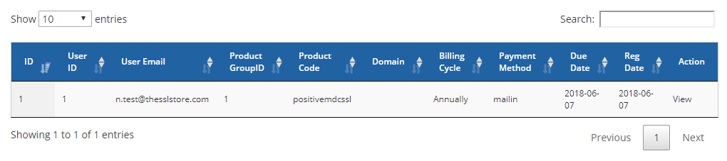 Importing Existing Orders Into The WHMCS Module The SSL Store - Invoice magyarul